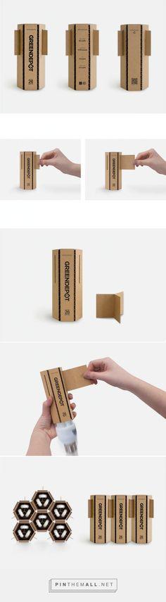 Green Depot #Eco-friendly #LightBulb #packaging by Stacy Park - http://www.packagingoftheworld.com/2015/02/green-depot-eco-friendly-light-bulb_24.html