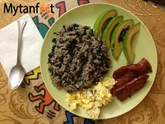 Costa Rican food - gallo pinto typical breakfast of Costa Rica