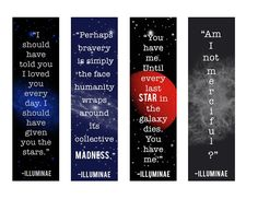 Free illuminae bookmark (and larger print) printables! Loved this book.