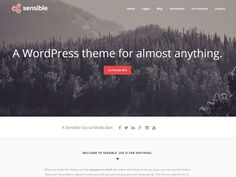 Sensible+WordPress+Theme - CoolHomepages Web Design Gallery