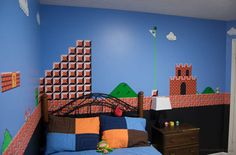 super mario brothers bedroom, via curbed