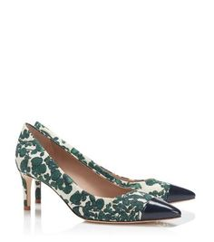 ISSY FLORAL PUMP - ISSY GREEN C/TORY NAVY