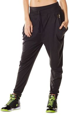 Zumba Dance Fitness Aztec Jersey Pants - Black