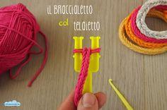 il braccialetto (di cotone) col telaietto degli elasticini per l'autunno che verrà!