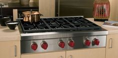 "**would need to redsign island to acomodate width***Only Professional Rangetop with appropriate downdraft--36"" Sealed Burner Rangetop 