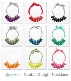 Double Delight Necklace Available in 11 colors.  ON SALE for $4.99!
