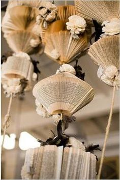 How to make a book chandelier :-)