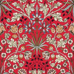Part of the HOUSE OF HACKNEY x WILLIAM MORRIS AW15 collection: Hyacinth Scarlet Red http://www.houseofhackney.com/collections/hyacinth.html