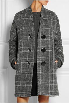 Balenciaga | Checked brushed wool-blend coat | NET-A-PORTER.COM
