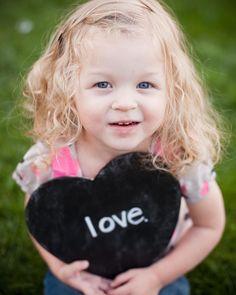 Valentine's Day Ideas: Chalkboard Conversation Heart