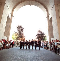 the menenpoort in ieper , at 8 pm everyday there is the last post to remember the soldiers ...