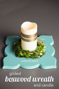 Gilding couldn't be easier, and this gilded boxwood wreath is amazingly simple and beautiful.
