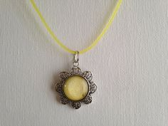 Flower Shaped Nail Polish Pendant  Yellow with by PolishedFindings