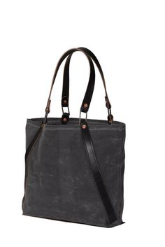 Waxed Charcoal & Canvas Bag
