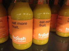 Danish packaging design//fresh//fruits//juice Fruit Juice, Fresh Fruit, Danish, Packaging Design, Bottle, Drinks, Eat, Drinking, Beverages