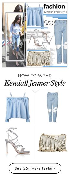 """""""street style"""" by nickooe-zhou on Polyvore featuring Topshop, Sandy Liang, Gianvito Rossi and Rebecca Minkoff"""