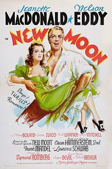 New Moon. Jeanette MacDonald, Nelson Eddy, Mary Boland, George Zucco, H.B. Warner, Grant Mitchell. Directed by Robert Z. Leonard. MGM. 1940