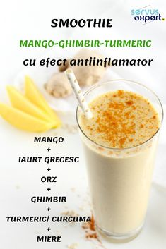 Medicamentele antiinflamatoare au beneficii și riscuri. Smoothie Fruit, Smoothie Drinks, Smoothie Recipes, Smoothies, Health Diet, Health And Nutrition, Healthy Drinks, Healthy Recipes, Happy Drink