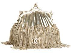 vintage Chanel chained frame bag