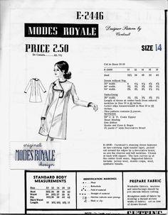 Modes Royale E2446 Cardinali's Right Lapel Dress by Denisecraft