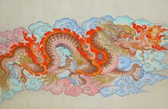 "Saatchi Art is pleased to offer the painting, ""tibetan style dragon,"" by Tenzin Dhonden. Original Painting: Gouache on Other. Size is 0 H x 0 W x 0 in. Japanese Dragon, Japanese Art, Tibetan Dragon, Tibet Art, Mythical Creatures Art, Dragon Pictures, Art Graphique, Dragon Art, Funny Art"
