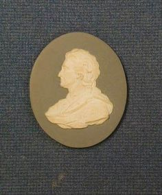 """A rare 18th Century Wedgwood and Bentley oval porcelain plaque depicting a classical figure 3""""."""