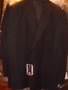 Doc & Amelia Black Blazer Jacket Size 46 Reg Aerocool 2 Button Comfort New NWT #DocAmelia #TwoButton