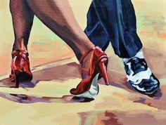 'Tangoschritte ' in Grossansicht Dance Paintings, Music Painting, Tango Art, Female Avatar, Tango Dancers, Dancing Drawings, Art Deco Illustration, Black Love Art, Dance Choreography Videos