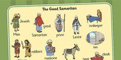 The Good Samaritan Word Mat