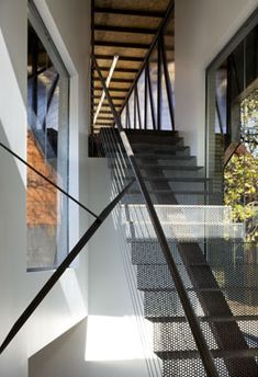perforated steel staircase