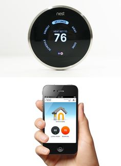 The Nest Thermostat 2.0 - The ultimate high tech climate control device.  Read our full review.