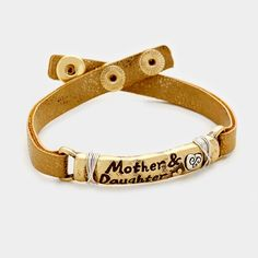 Mothers Day Mom Daughter Faux Leather Bracelet Bracelets Small Businesses Fashion Jewelry
