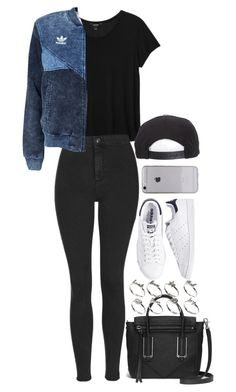 """Untitled #1494"" by breannaflorence ❤ liked on Polyvore featuring Monki, Topshop, adidas Originals, Brixton, ASOS and adidas"