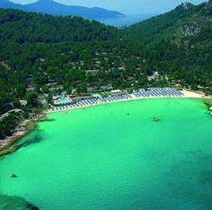 Makryammos beach, Thasos island-Greece