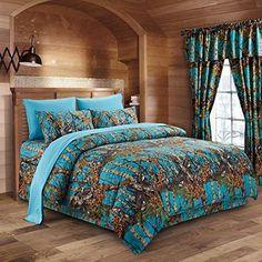 Realtree Max-4 HD Advantage Queen Comforter Set w//sheets 8pc Duck Camo Grasses