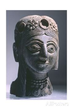 Crowned Female Head, Ivory Artifact from Nimrud Giclee Print at AllPosters.com