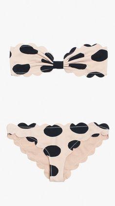 Scalloped Polka Dot Bikini