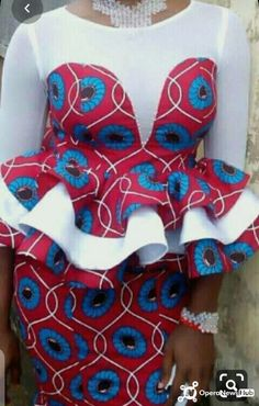 Modern African Print Dresses, African Lace Styles, African Wear Dresses, African Traditional Dresses, African Attire, African Style, Ankara Styles, African Fashion Designers, African Fashion Ankara