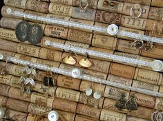 Wine cork jewelry organizer. As much wine as we drink I could make this in no time!