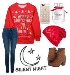 """""""♢0.11 Christmas shopping with friends♢"""" by mrsgrier-35 ❤ liked on Polyvore featuring moda, NYDJ, Casetify, Victoria's Secret, Madden Girl, Silent Night, women's clothing, women, female y woman"""