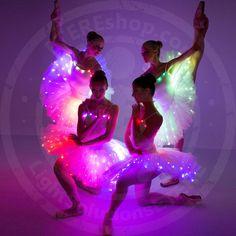 LED light up rainbow ballet tutu dress costume / Professional fairy ballerina tutu   Etsy