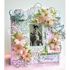 Heartfelt Creations - Victorian Dogwood Envelope Card Project