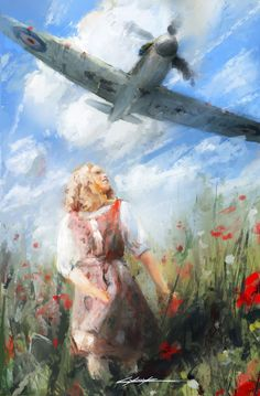 When Poppies Bloom by VitoSs on DeviantArt – Vehicles is art Airplane Art, Battle Of Britain, Fighter Aircraft, Aviation Art, Military Art, Art Sketchbook, Box Art, Art Pictures, Lowbrow Art