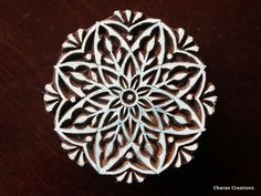 textile Stamp, Pottery Stamp, Indian Wood Stamp, Tjaps, Blockprint Stamp- Round Floral Motif