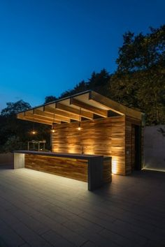 12 innovative rooftop ideas by Rhyzoma - Arquitectura y Diseño Terrace Design, Roof Design, Exterior Design, Garden Design, Pavilion Design, Terrace Ideas, Wall Design, House Design, Backyard Bar