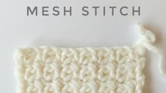 How to Crochet the Mesh Stitch – Knitting For Beginners Crochet Stitches For Beginners, Crochet Stitches Patterns, Crochet Videos, Stitch Patterns, Knitting Patterns, Knitting Ideas, Knit Stitches, Baby Blanket Crochet, Crochet Baby