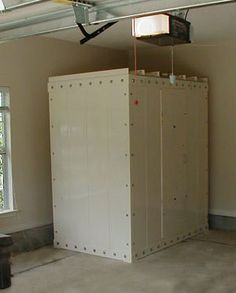 Safe room walk in closet and closet on pinterest for Garage safe room