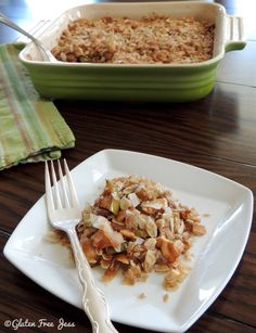 Coconut Cashew Apple Crumble from Gluten Free Jess @jhessler07