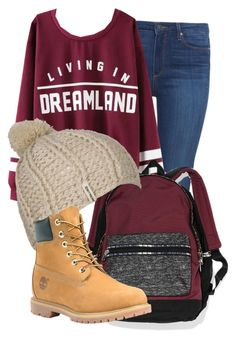 """""""27 September 15"""" by kiarahcarson ❤ liked on Polyvore featuring Paige Denim, Victoria's Secret, Billabong and Timberland"""