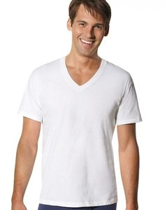 ca351533397 Locker geschnittenes T-Shirt mit V-Ausschnitt für Herren